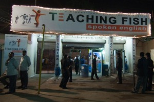teaching fish spoken english